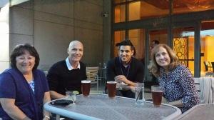 Chris Powell, Dr. Nick Jeffery, Harvey Sihota, Donna Sullivan at Bethesda W2W 2015