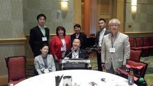 Chris Powell U2FP Education Director with the Japanese Spinal Cord Foundation: CEO Makoto Ohama, Sachiko Machida, Noriyuki Sakai, Motoyuki Watanabe, Dr. Masatoshi Ito 2015