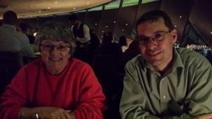 Dr. Murray Blackmore & U2FP Science and Advocacy Blogger Chris Powell at Seattle, WA Space Needle (W2W2014)