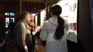 Dr. Jerry Silver reviewing poster presentations